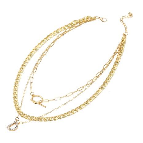 Koreanischer Brief Anhänger Ohrringe Halskette Set NHJJ327860's discount tags