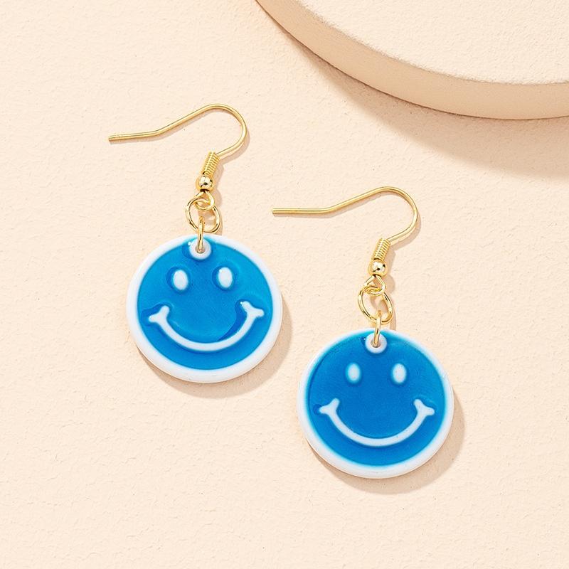 Korean smiley earrings wholesale NHAI327906