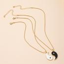 cadena de clavcula con colgante de chismes de Tai Chi retro NHAI327916