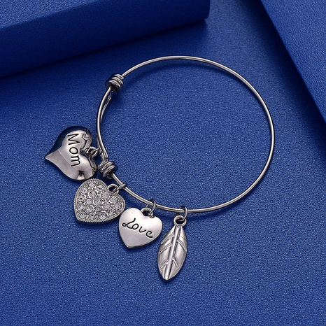 Pulsera telescópica ajustable de acero inoxidable LOVE MOM con letra NHOA327944's discount tags