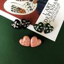 Retro heartshape alloy earrings wholesale NHOM327977