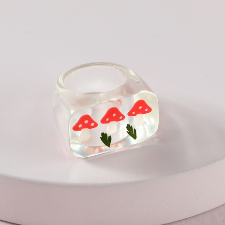 Fashion Transparent Acrylic Strawberry Ring Wholesale NHLU328005's discount tags