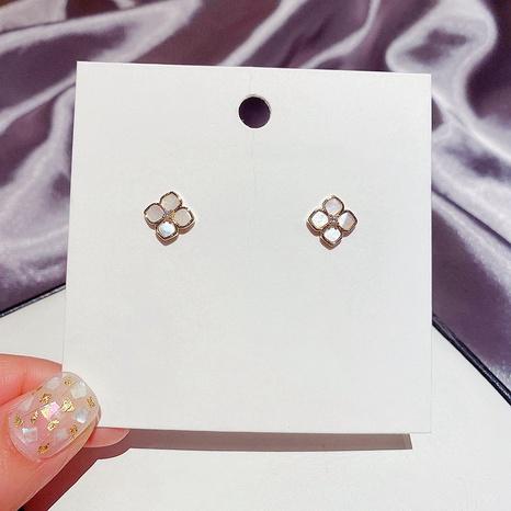 Korean mini zircon shell flower earrings NHCG328024's discount tags