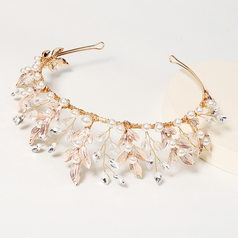 fashion alloy crystal pearl crown NHHS328153's discount tags