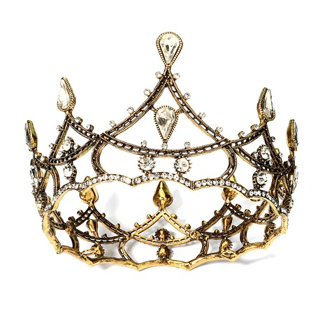 baroque retro alloy diamond crown NHHS328156's discount tags