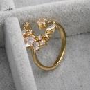 Fashion inlaid zirconium star moon wholesale NHYL328189