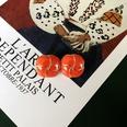 NHOM1513567-Orange-Flower-925-Silver-Pin-Stud-Earrings-2.2cm