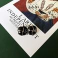 NHOM1513569-Black-Flower-925-Silver-Stud-Earrings-2.2cm