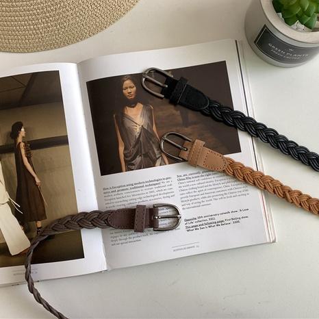 cinturón trenzado de moda retro NHWP328338's discount tags