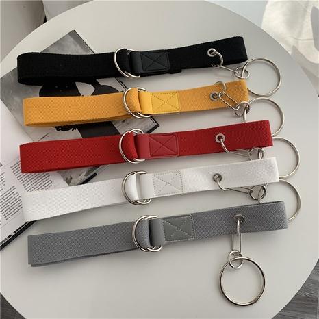 cinturón de lona con hebilla de doble anillo de moda NHWP328341's discount tags