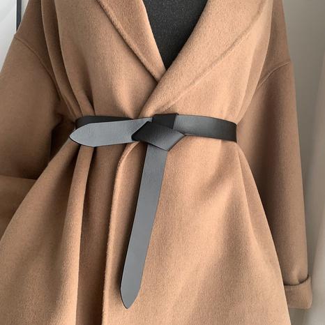 cinturón anudado salvaje de moda simple NHWP328347's discount tags