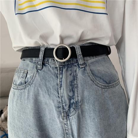 cinturón de jeans negros de moda coreana salvaje simple NHWP328349's discount tags