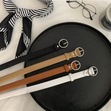 Cinturón de cuero de imitación redondo de nueva moda NHWP328350's discount tags