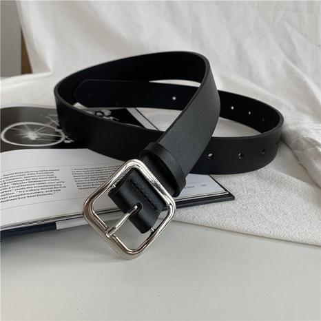 Cinturón salvaje con hebilla cuadrada de nueva moda NHWP328352's discount tags