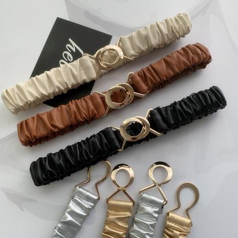 nueva moda simple cinturón ancho elástico salvaje NHWP328356's discount tags