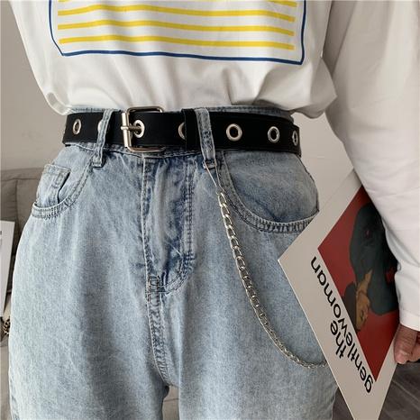 cadena de tendencia de moda ojo punk cinturón de agujero completo NHWP328357's discount tags