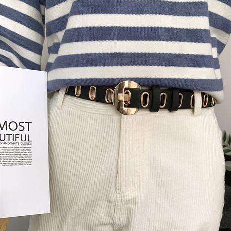 cinturón de cuero casual de moda NHWP328358's discount tags