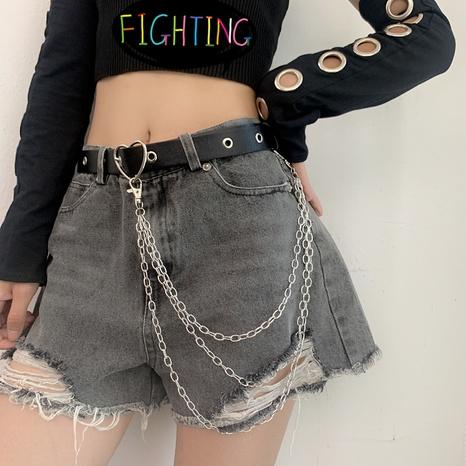 cinturón de hebilla de amor simple de moda NHWP328364's discount tags