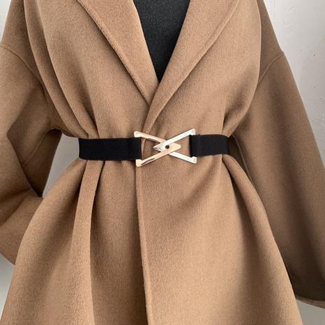 Cinturón de doble hebilla triangular de moda coreana NHWP328367's discount tags