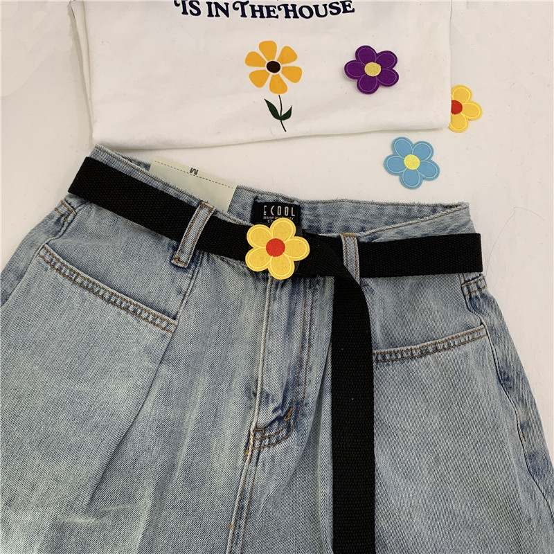new fashion nonporous cute flower belt NHWP328370