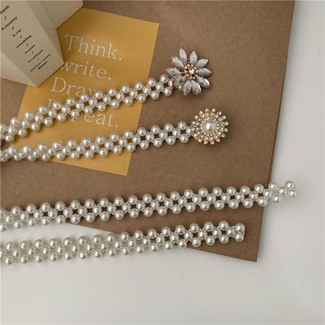 Cinturón de cadena de cintura de perlas simple de moda NHWP328372's discount tags