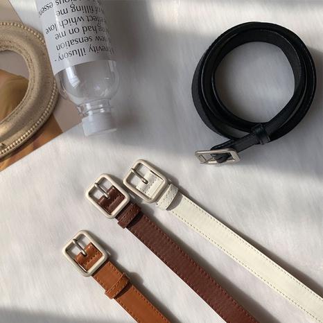 cinturón de hebilla cuadrada de moda simple NHWP328373's discount tags