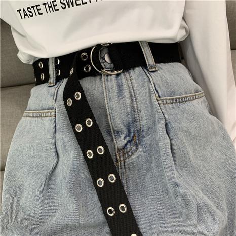 Cinturón de lona con hebilla de doble anilla NHWP328380's discount tags