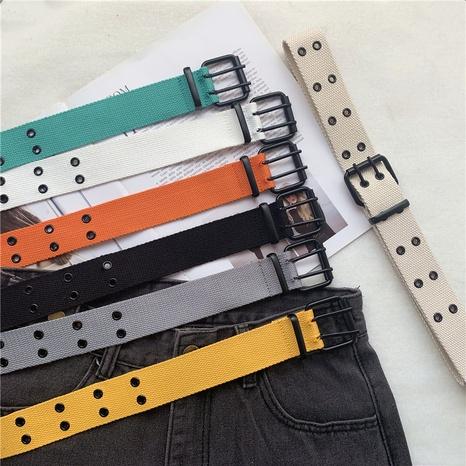 Cinturón de doble hilera de lona de nueva moda NHWP328379's discount tags