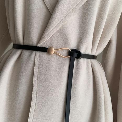 Cinturón perforado sin cuero de imitación de moda simple NHWP328387's discount tags