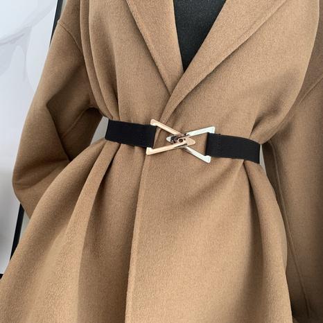 Cinturón de doble hebilla triangular de moda coreana NHWP328389's discount tags