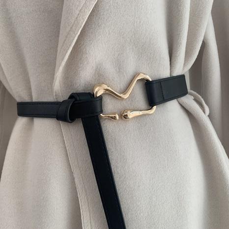 nuevo cinturón de moda anudado simple NHWP328391's discount tags