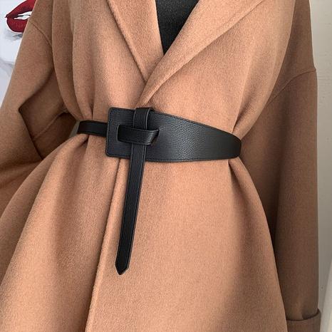 nuevo cinturón anudado salvaje simple NHWP328393's discount tags
