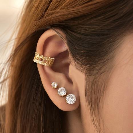 Koreanische Mode Diamant Ohrringe Set NHAJ329104's discount tags