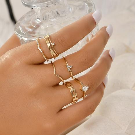 Mode koreanischen einfachen Ringsatz NHAJ329099's discount tags