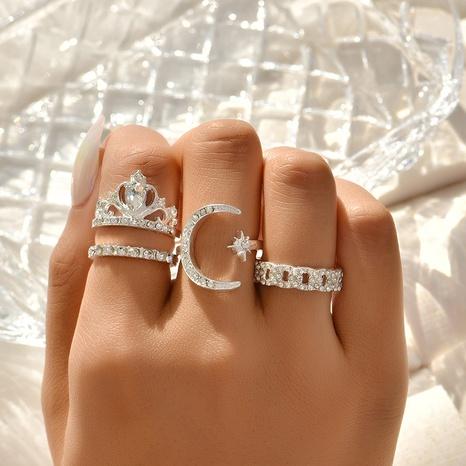 New Fashion Star Diamant gelb Kronenringset NHAJ329098's discount tags