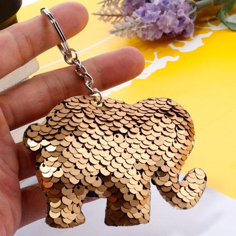 doppelseitiger reflektierender Pailletten-Elefanten-Schlüsselbund NHDI328482's discount tags