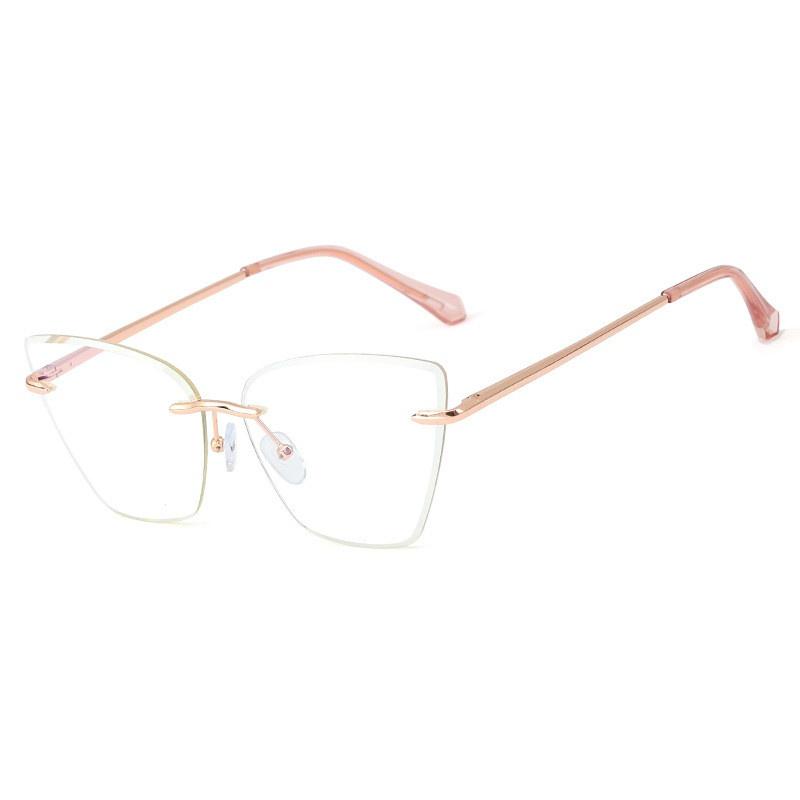fashion anti-blue rimless glasses wholesale NHFY328499