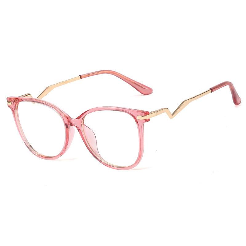 round frame flat mirror anti-blue glasses NHFY328502