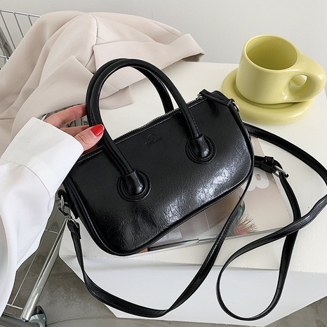 nuevo bolso de hombro de cuero de cera de aceite de moda NHLH328646's discount tags
