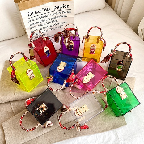 Bolso coreano transparente de color sólido NHLH328665's discount tags