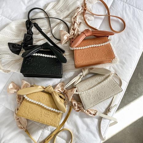 sac à bandoulière portable à la mode avec perles en relief NHTG328718's discount tags
