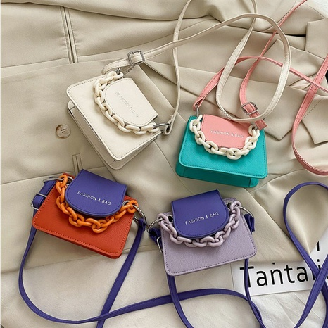 Mini sac à bandoulière en chaîne pour enfants couleur bonbon NHTG328725's discount tags