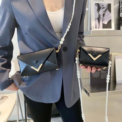 Sac carré coréen à bandoulière avec chaîne de perles NHTG328741's discount tags