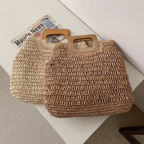 Korean lightweight portable straw woven large-capacity bag NHTG328746's discount tags