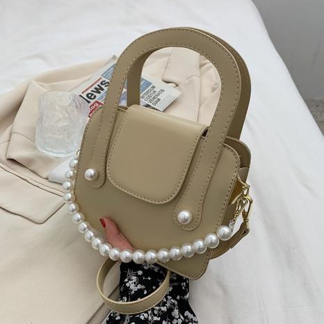 Sac à bandoulière coréen en perles de couleur unie NHTG328749's discount tags
