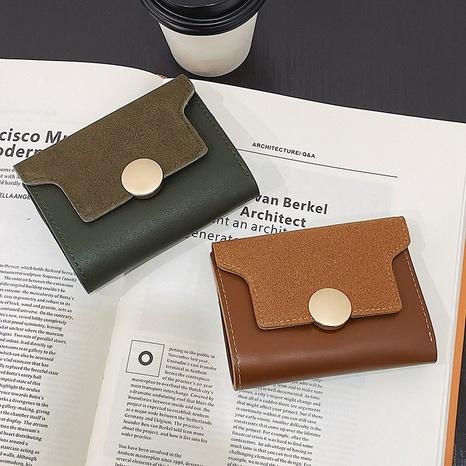 Vente en gros de portefeuille court givré à la mode NHTG328763's discount tags