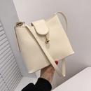 Korean solid color shoulder messenger bag NHRU328797