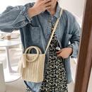 Fashion straw woven shoulder messenger bag NHWH328843