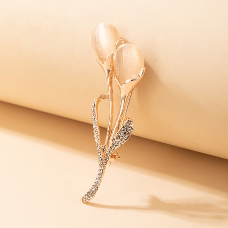 Broche opale fleur coréenne NHGY328882's discount tags