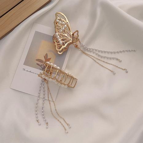 clip de captura de perlas de borla de mariposa de moda NHWB328955's discount tags